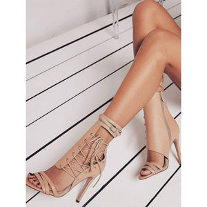 Roman strappy high heel sandals