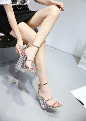 Crystal sandals for women
