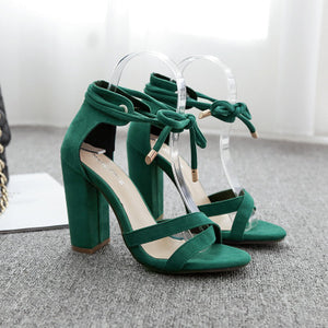 Simple word cross - strap high - heeled sandals with stylish strap