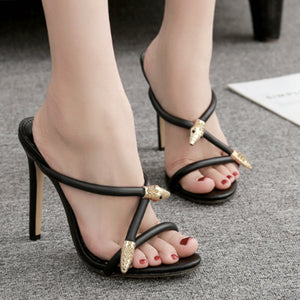 Water drill high heel sandals for women