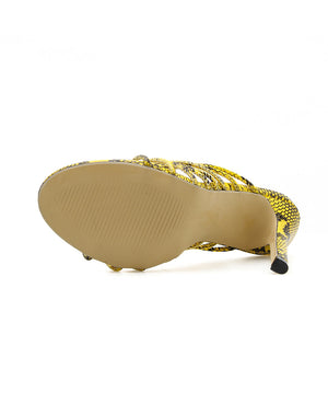 Yellow serpentine Roman slipper
