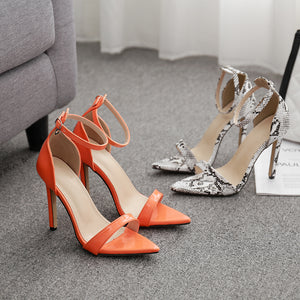 Sexy stiletto sandals with pointed toes