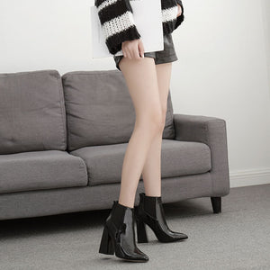 High heels and large - size Martin boots