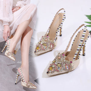 Water drill comfortable high heel sandals