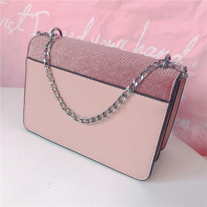 Shiny Small Square Bag instagram One shoulder Crystal Bags