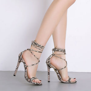Sexy transparent lace high-heeled sandals