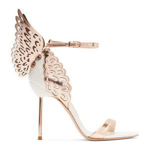 FASHION BUTTERFLY  HIGH HEEL SANDALS