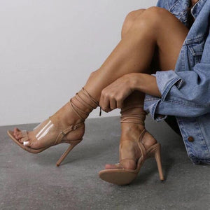 Sexy peep-toe strappy high heel sandals