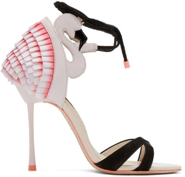 Strap high heel fine with leather shallow sandals