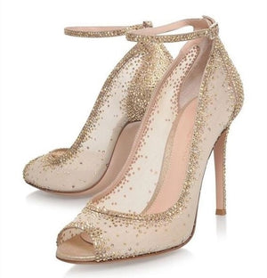 Crystal  Rhinestone Wedding Party Shoes