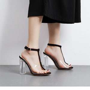 Sexy Transparent Heels Clear High Heels Shoes