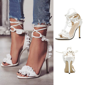 Summer Sandals Lace Up  Heels Stiletto