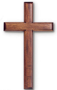 Solid Mahogany Wood Wall Cross 6""