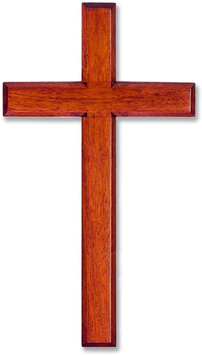 Wood Solid Mahogany Wall Cross 7