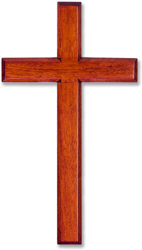 Wood Solid Mahogany Wall Cross 8