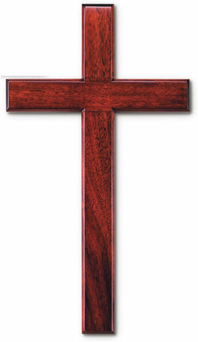 Wood Solid Mahogany Wall Cross 14