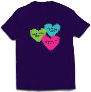 Purple Hearts - Adult T-Shirt