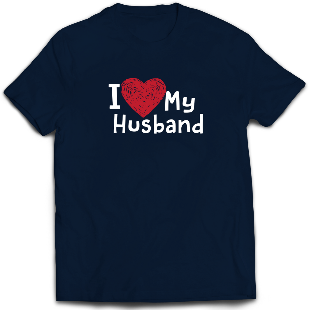 I Love my Husband - Adult T-Shirt