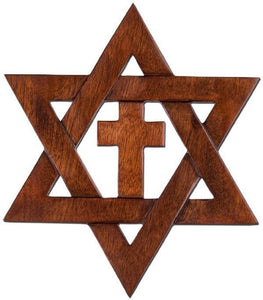 Star of David Wall Cross Cut-out Star of David with cross