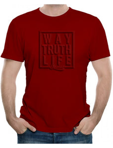 Way Truth Life Jesus - Adult T-Shirt