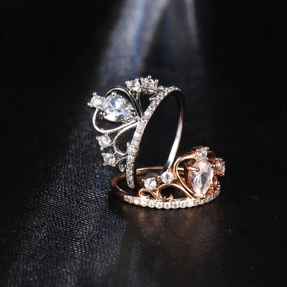 Princess Tiara Ring - Rose Gold or Silver Plating – Factory Swag