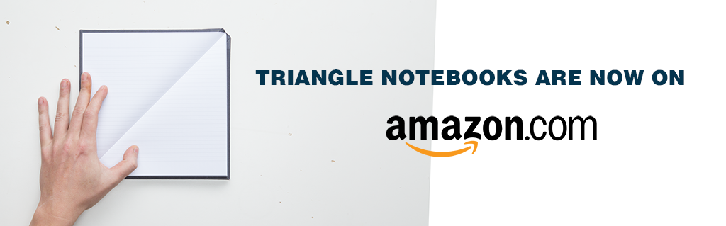 triangle notebooks are now on amazon