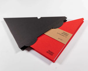 NEW! Triangle Notebook - Red - DOT GRID