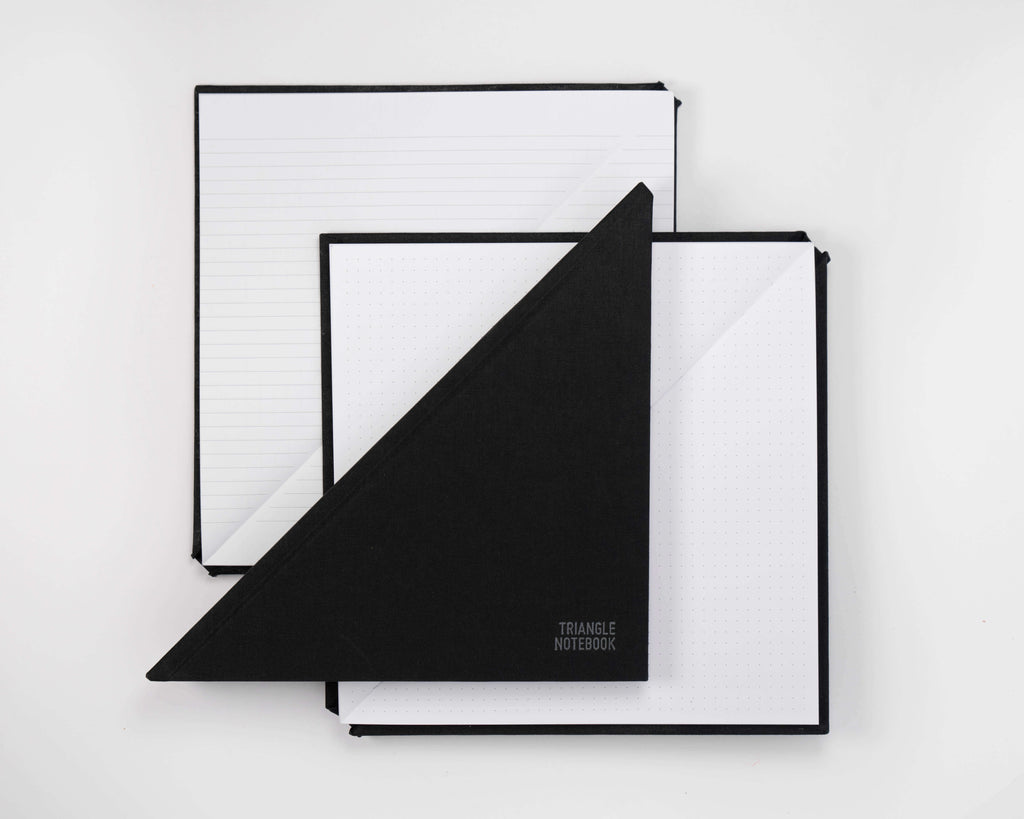 NEW! Triangle Notebook - Black - DOT GRID