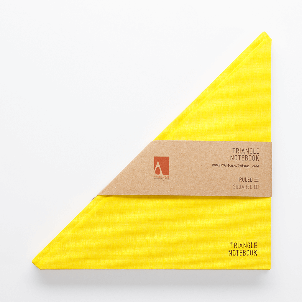 Triangle Notebook Yellow - Creative Notebook