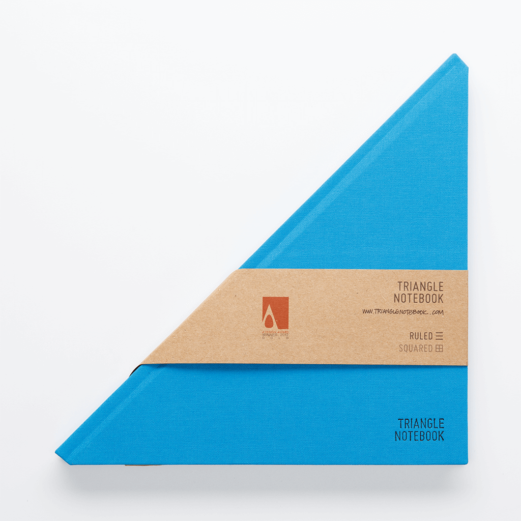 Triangle Notebook Blue - Creative Notebook