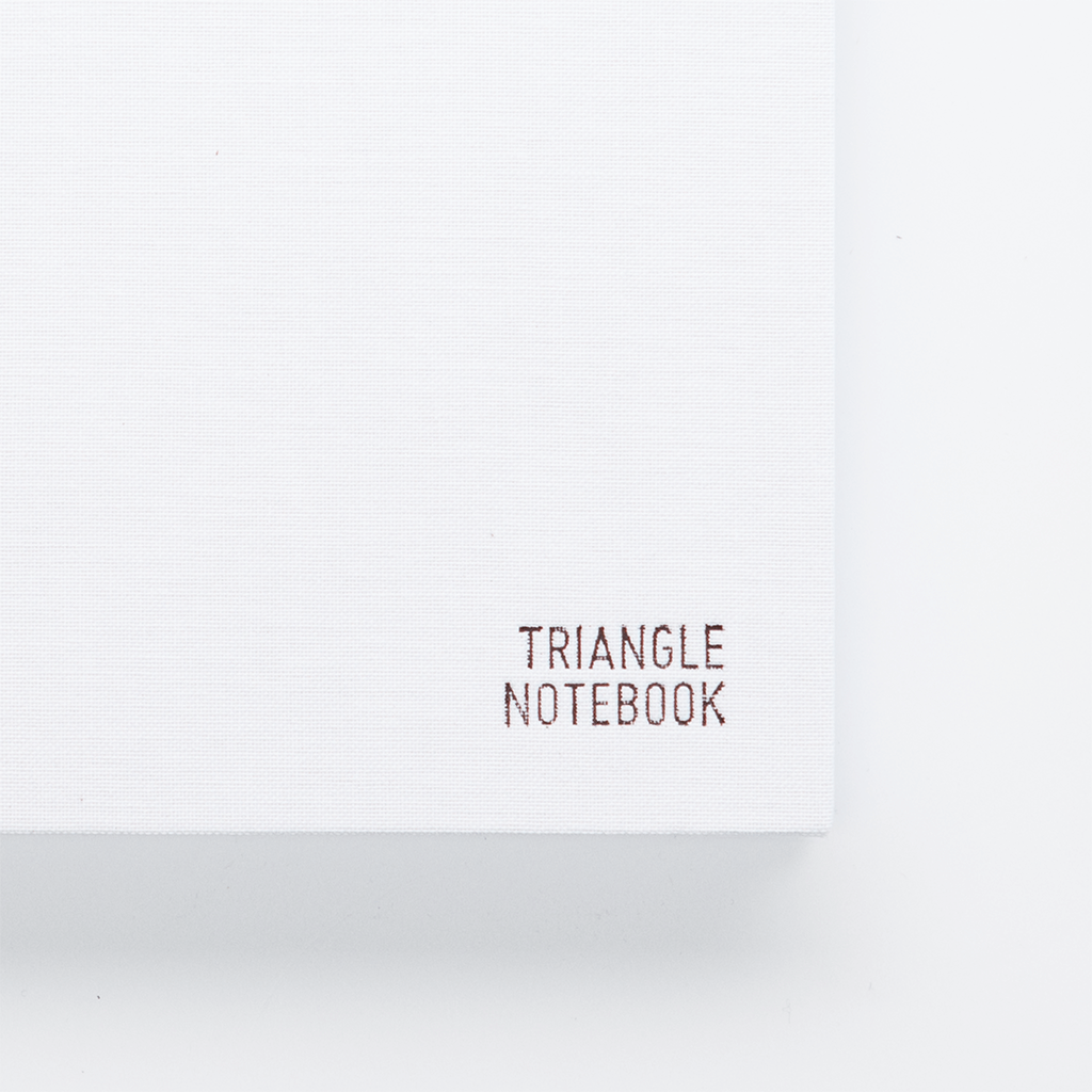 Triangle Notebook - Ghost White