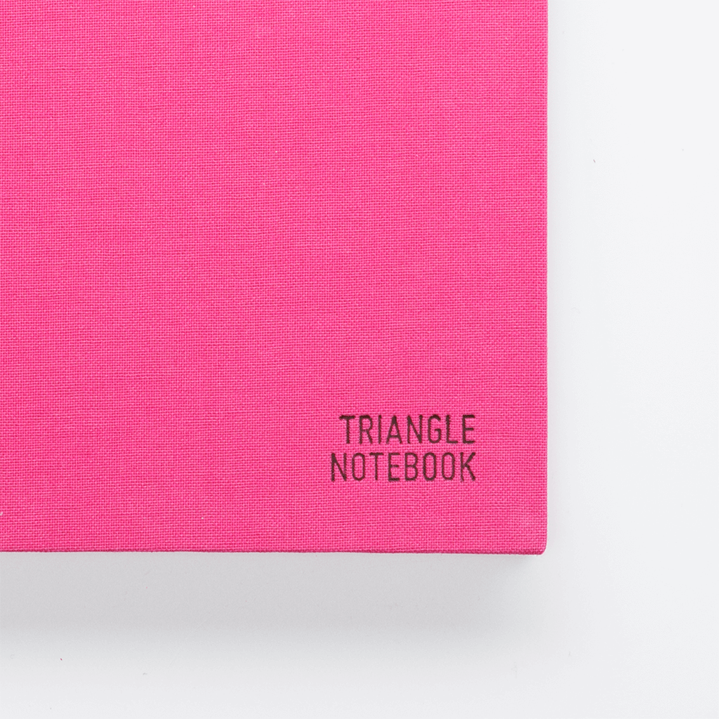 Triangle Notebook - Pink