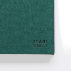 Triangle Notebook - Dark Green