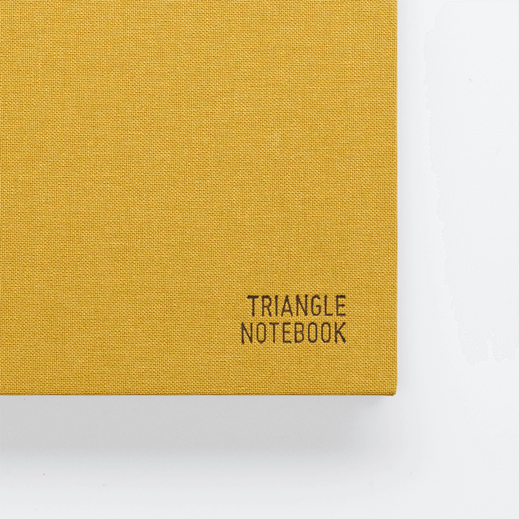 Triangle Notebook - Mustard