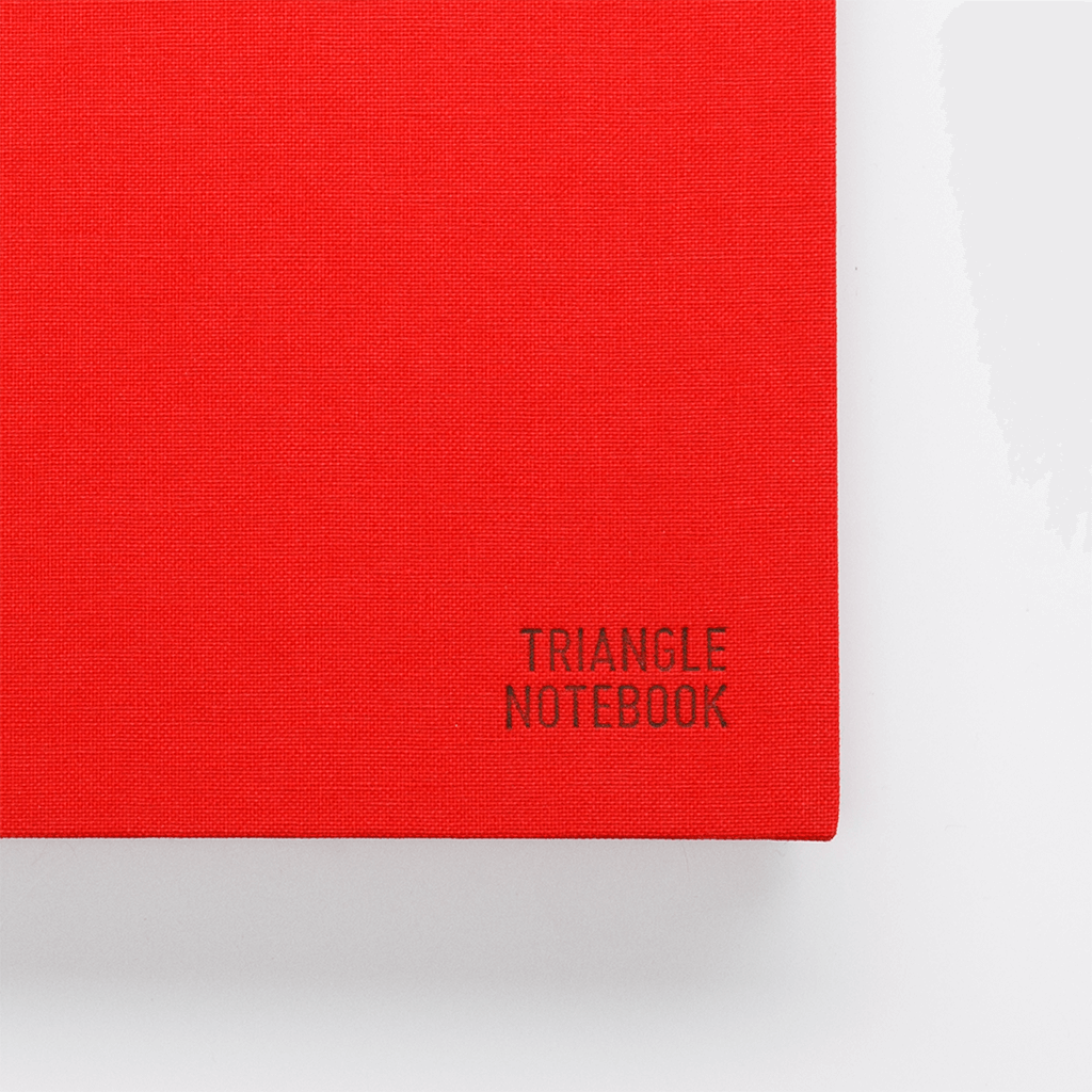 Triangle Notebook - Red