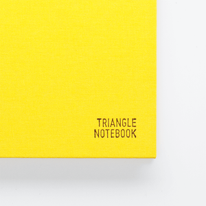 Triangle Notebook - Yellow