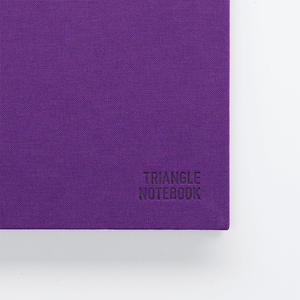 Triangle Notebook - Purple