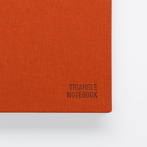 Triangle Notebook - Dark Amber