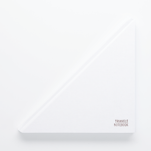 Triangle Notebook White - Creative Notebook