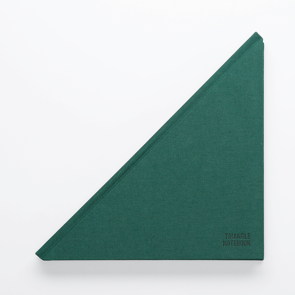 Triangle Notebook Dark Green - Creative Notebook