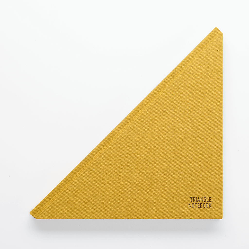 Triangle Notebook Mustard - Creative Notebook