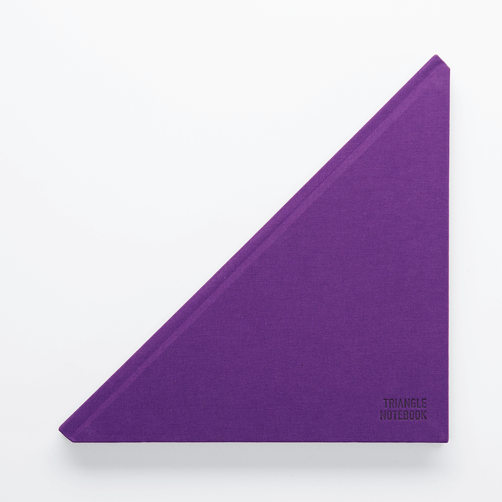 Triangle Notebook Purple - Creative Notebook
