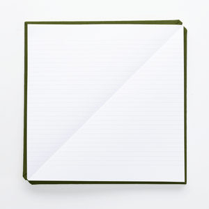 Triangle Notebook - Khaki Green