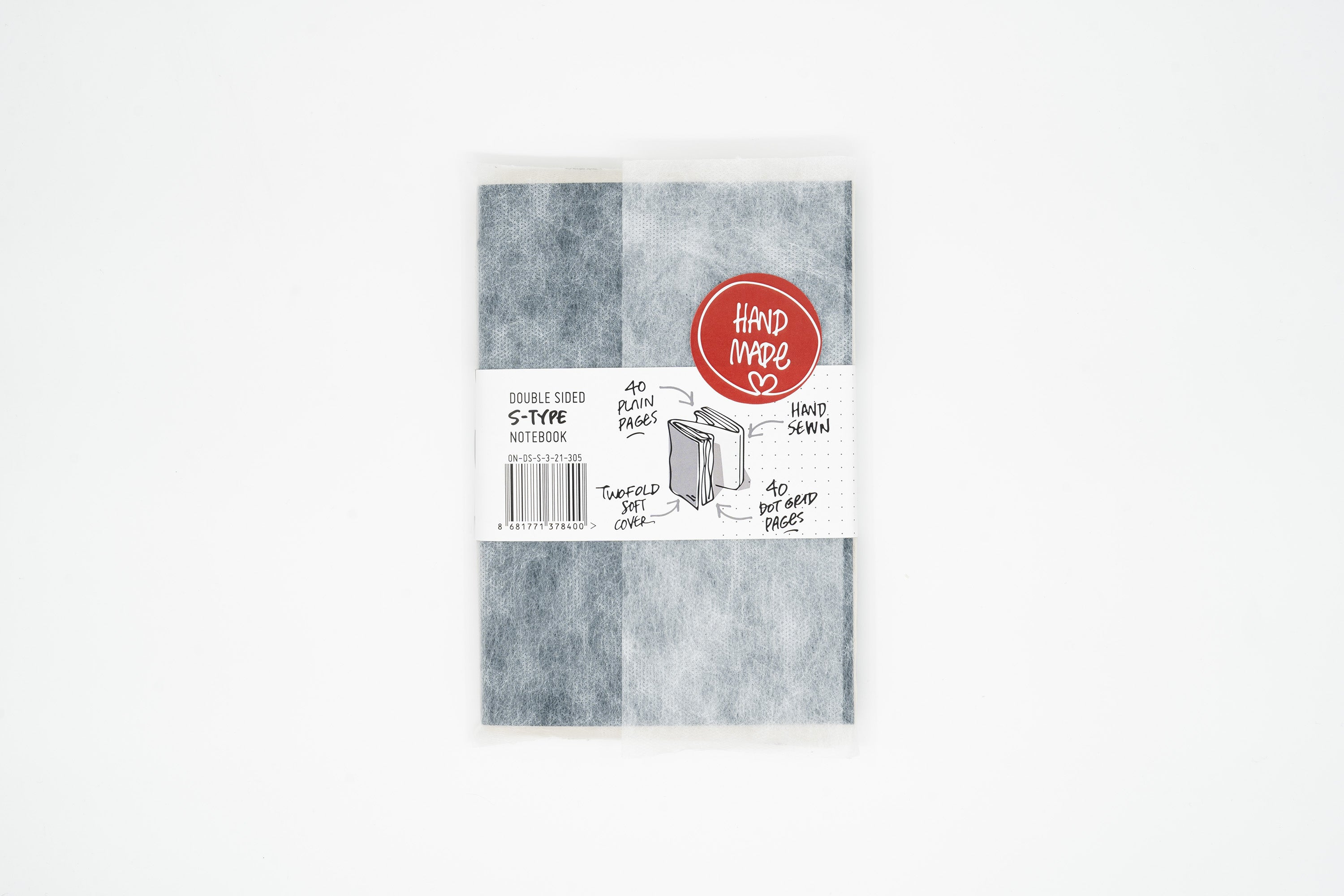 Double Sided Notebook - S Type - Slate Blue § Gray