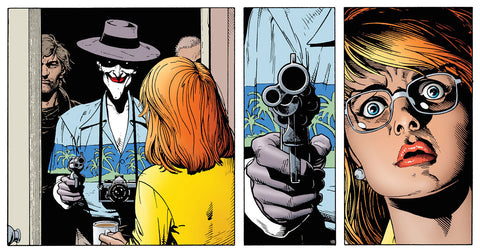 Joker shoots Barbra Gordon
