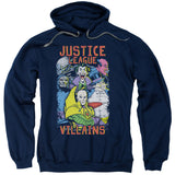 Jla - Villains Adult Pull Over Hoodie