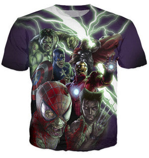 Zombies The Avengers Crew neck T-shirt
