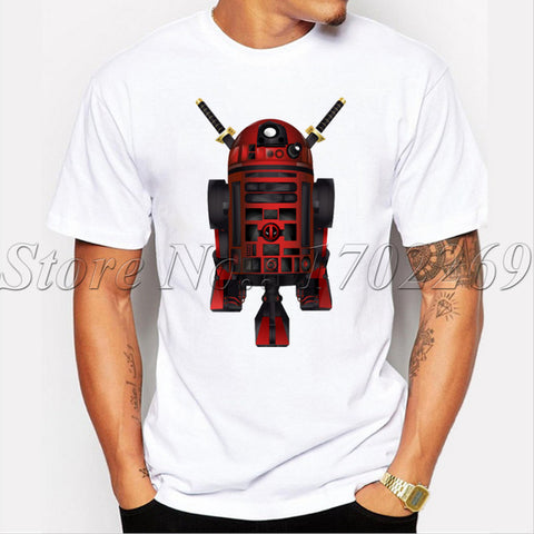 Deadpool R2D2 Funny Tee