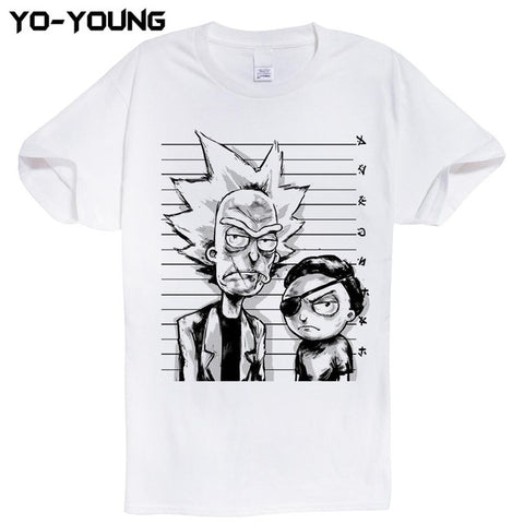 Rick And Morty T-shirts Police Line Up