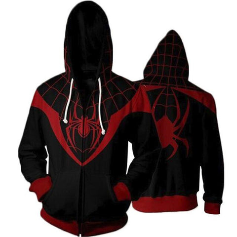 Venom Hoodies 3D Printing Sleeve Zippers Sweatshirts